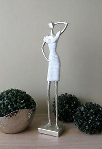 dekofigur skulptur weiss silber 45 cm hoch figur. Black Bedroom Furniture Sets. Home Design Ideas
