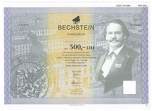 Dekorativ-C-Bechsstein-Pianoforte-AG-Berlin-Aktie-ueber-500-DM-von1996