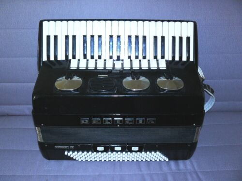 Delicia Choral IV ACCORDION ACCORDIAN 120 bass, 4/4, 19 1/4 by Czechoslovakia in Musical Instruments & Gear, Accordion & Concertina | eBay