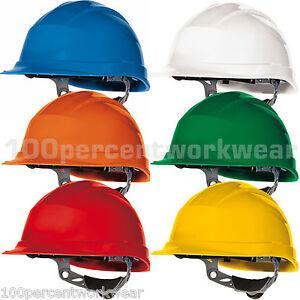 Delta-Plus-Venitex-QUARTZ-III-Harter-Helm-Sicherheits-Kopfbedeckung-Baustelle