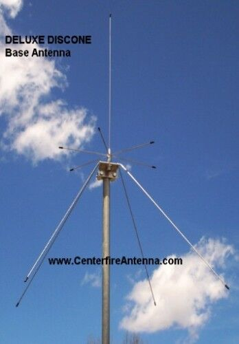 Deluxe Discone Scanner Base Antenna Stainless Steel Lifetime
