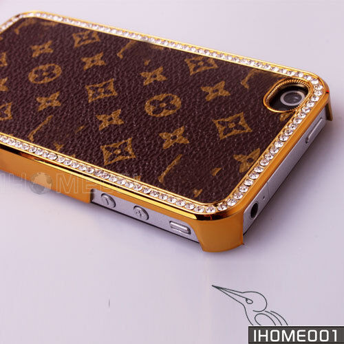 Deluxe Luxury Leather Set auger Checker Snap Hard Case for iPhone4S 4G 4 LV157 in Cell Phones & Accessories, Cell Phone Accessories, Cases, Covers & Skins | eBay