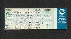 Depeche mode full unused concert ticket 1998 madison for Katzennetz balkon mit ticket madison square garden