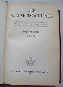 Der-kleine-Brockhaus-L-Z-1952-Hard-Cover