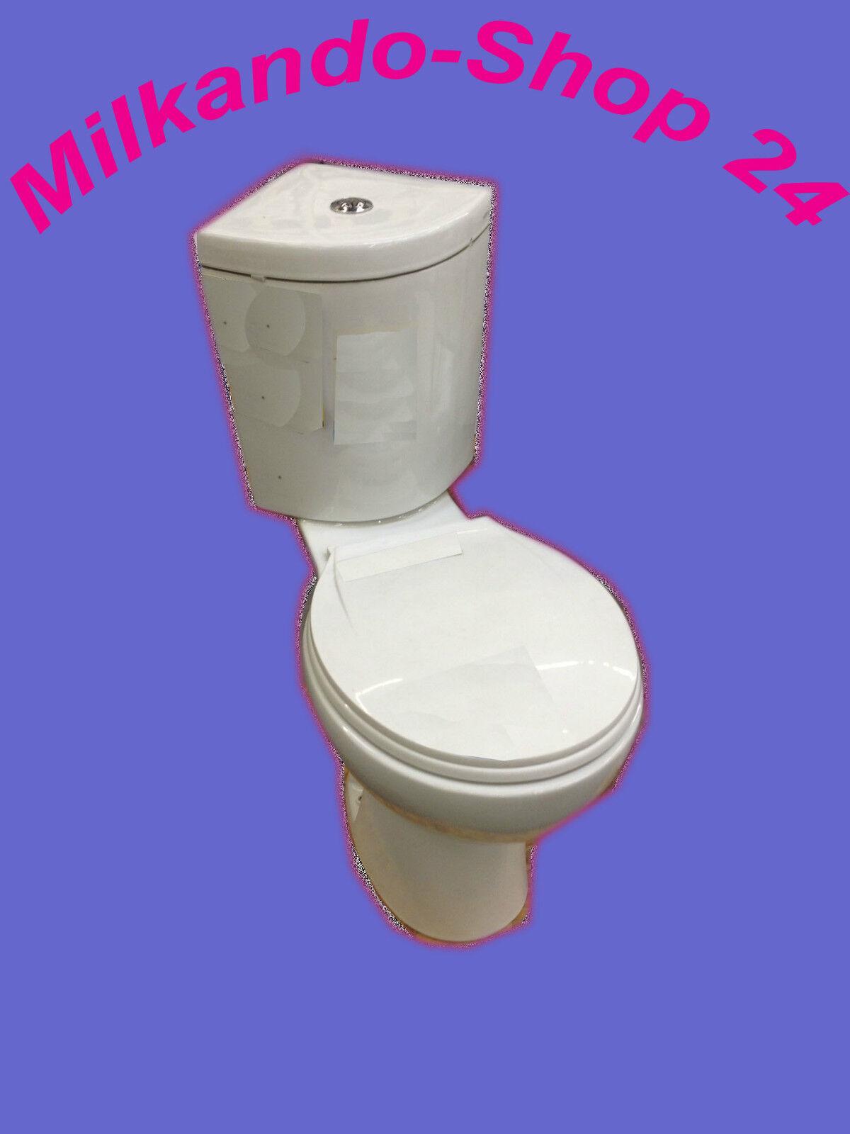 design eck toilette wc stand komplett set mit sp lkasten keramik ecksp lkasten ebay. Black Bedroom Furniture Sets. Home Design Ideas