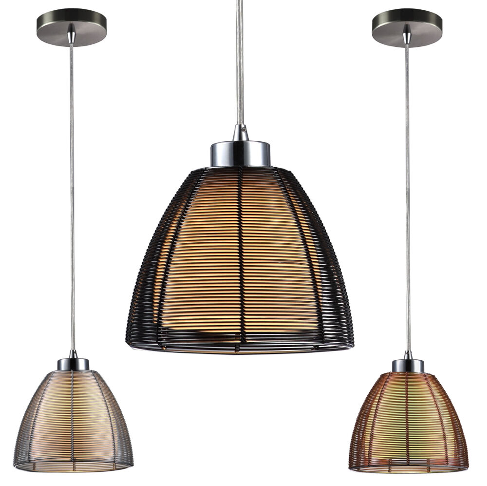 pendelleuchte silber draht im glas inkl leuchtmittel pendellampe h ngelampe neu ebay. Black Bedroom Furniture Sets. Home Design Ideas