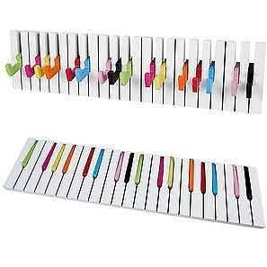 Design wandgarderobe hakenleiste 16 haken klavier for Garderobe bunt