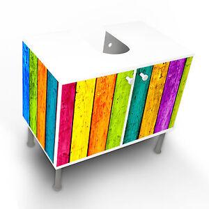 design waschbeckenunterschrank schrank waschtisch unterschrank bunte holzlat bad ebay. Black Bedroom Furniture Sets. Home Design Ideas