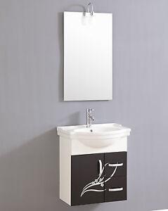 design waschtisch g ste wc mit armatur spiegel und beleuchtung sofort ebay. Black Bedroom Furniture Sets. Home Design Ideas