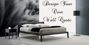 Design Your Own Wall art Quote Decor sticker 15 words eBay