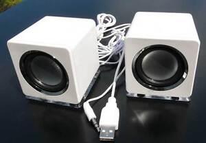 design mini usb lautsprecher boxen f r laptop pc wei loudspeaker speaker sn dw ebay. Black Bedroom Furniture Sets. Home Design Ideas