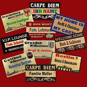 designer kokos fu matte abtreter mit ihrem namen bedruckt fu abtreter ebay. Black Bedroom Furniture Sets. Home Design Ideas