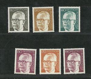 Deutsche-Bundespost-1972-Freimarken-Heinemann-Ergaenzungswerte