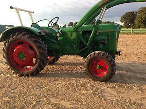 deutz d40 d50 d30 schlepper frontlader oldtimer traktor. Black Bedroom Furniture Sets. Home Design Ideas
