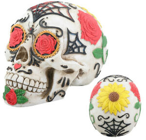 Http Www Ebay Co Uk Itm Dia De Los Muertos Day Of The Dead Tattoo Sugar Skull Figurine Figure Home Decor 310857577581