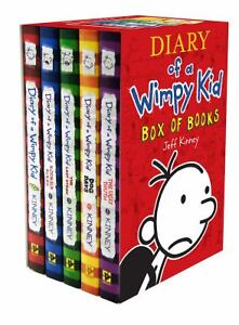 Diary of a Wimpy Kid Box of Books (1-5) Hardcover in Books, Children & Young Adults | eBay
