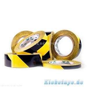 Dickes-Bodenmarkierungsband-33m-Laenge-Klebeband-gelb-schwarz-gestreift