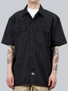 Dickies-Hemd-Shortsleeve-Work-Shirt-schwarz-S-bis-4XL-44-70