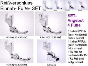 Die-4-Reissverschluss-Einnaeh-Fuesse-4-Fuesse-SETANGEBOT-fuer-norm-u-verdeckte-RV