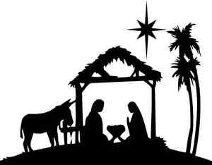 Print Out Nativity Scene Silhouette | Search Results | Calendar 2015