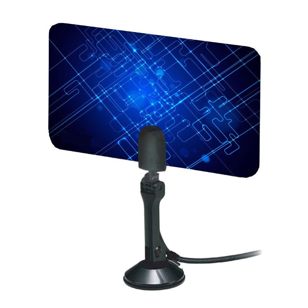digital indoor tv antenna hdtv dtv box ready hd vhf uhf flat universal coaxial ebay. Black Bedroom Furniture Sets. Home Design Ideas