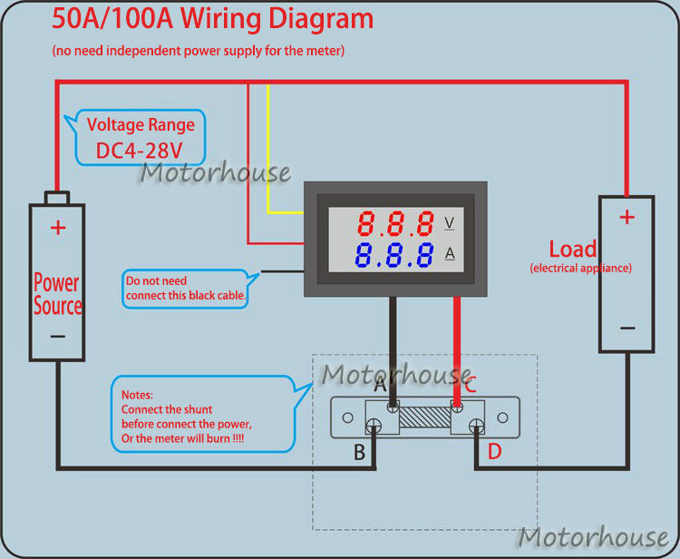 $_3 Wiring Voltmeter on