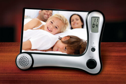 Digital Voice Recording Photo Frame With Built In Clocks Message Recorder S2137 in Cameras & Photo, Digital Photo Frames | eBay