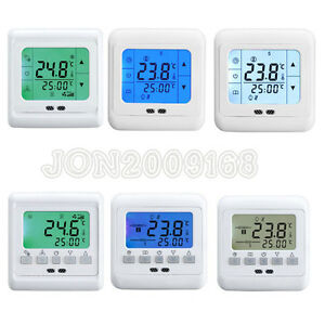 digital thermostat fu bodenheizung thermometer raumthermostat bodenf hler 1 20x ebay. Black Bedroom Furniture Sets. Home Design Ideas