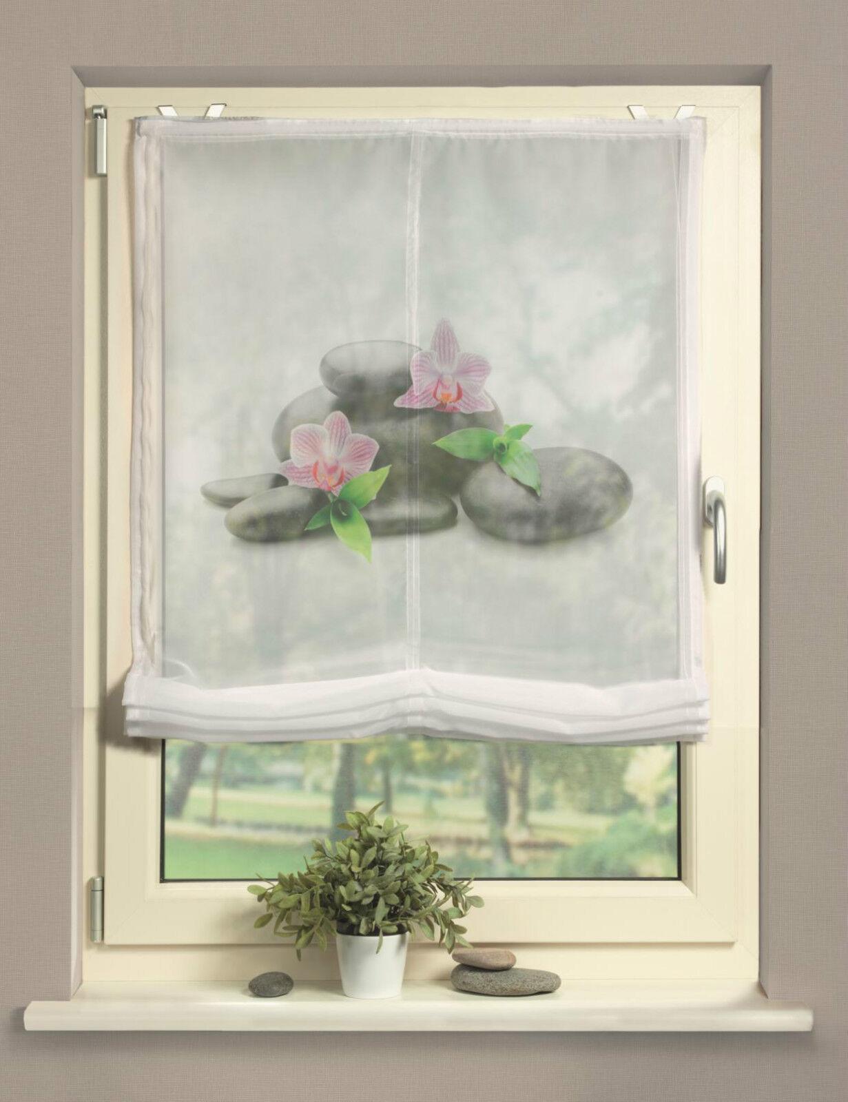 digitaldruck raffrollo bxh 45x140cm santander bedrucktes rollo steine easyfix ebay. Black Bedroom Furniture Sets. Home Design Ideas