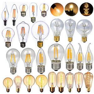 dimmbar e27 e14 led retro edison filament birne leuchtmittel lampe licht 2w 40w ebay. Black Bedroom Furniture Sets. Home Design Ideas