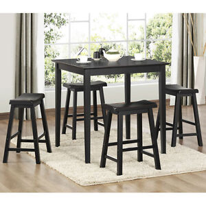 dining room table and chairs bar pub set 5 piece