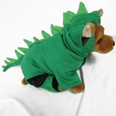 Dinosaur GR Costume Pet Dog Clothes Apparel Chihuahua S