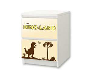 dinosaurier m belsticker aufkleber f r die kommode malm von ikea ns12 ebay. Black Bedroom Furniture Sets. Home Design Ideas