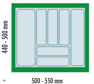 Dirks 60 er besteckeinsatz kombi besteckkasten schubladen for Ikea besteckeinsatz