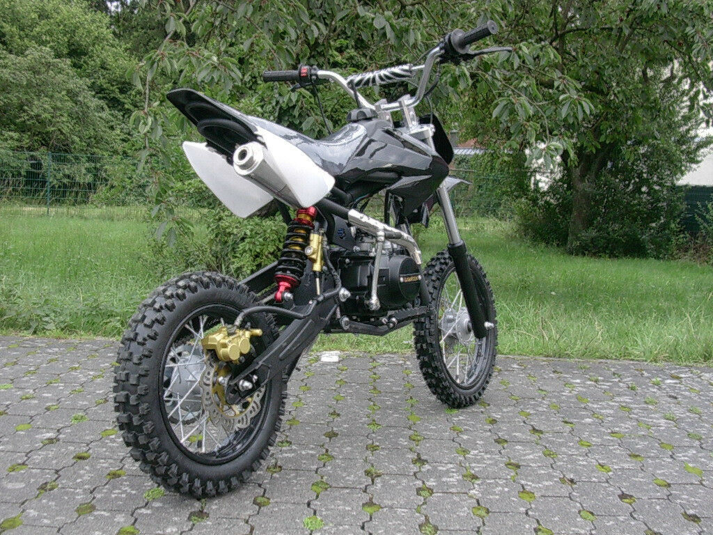 dirt bike 125 ccm 14 12 r der cross vollcross pocketbike pit enduro 125cc pocket ebay. Black Bedroom Furniture Sets. Home Design Ideas