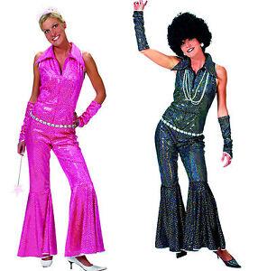 disco boogie anzug jumpsuit schwarz o pink damen party. Black Bedroom Furniture Sets. Home Design Ideas