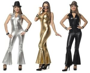 disco catsuit kost m kleid damen motto party karneval. Black Bedroom Furniture Sets. Home Design Ideas