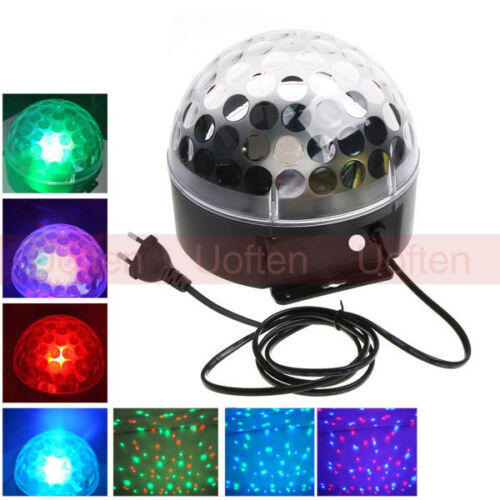 Disco DJ Stage Lighting Voice-activated LED RGB Crystal Magic Ball Effect Light in Musical Instruments & Gear, Stage Lighting & Effects, Stage Lighting: Single Units | eBay