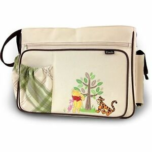 disney baby winnie the pooh large diaper bag w changing pad lots of pockets new ebay. Black Bedroom Furniture Sets. Home Design Ideas