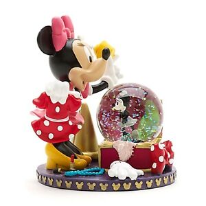 Disney-Disneyland-Paris-Minnie-Mouse-Figurine-and-Snow-Globe-BNIB