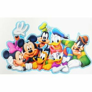 disney micky maus seine freunde wandsticker wandtattoo aufkleber xxl motiv 13 ebay. Black Bedroom Furniture Sets. Home Design Ideas