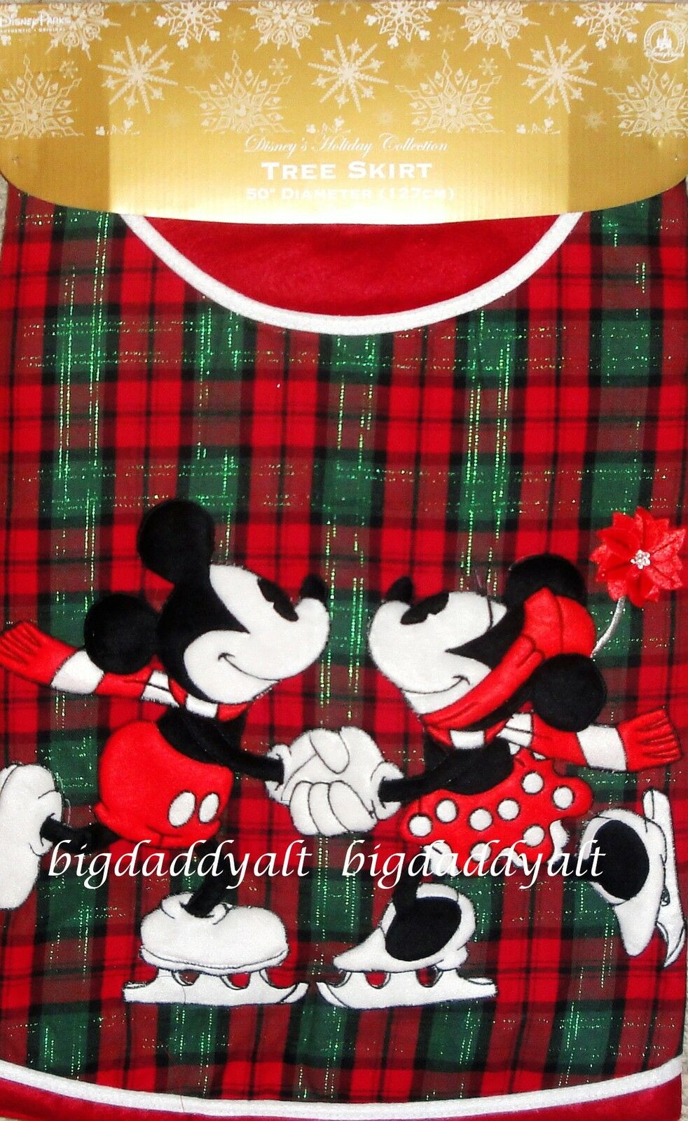 new disney world parks mickey minnie mouse plaid - Disney Christmas Tree Skirt