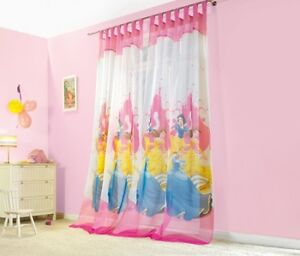 disney princess gardinen schlaufenschals kinder vorhang disney lang neu ebay. Black Bedroom Furniture Sets. Home Design Ideas