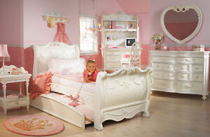 disney princess girls 8 piece twin sleigh bed bedroom set