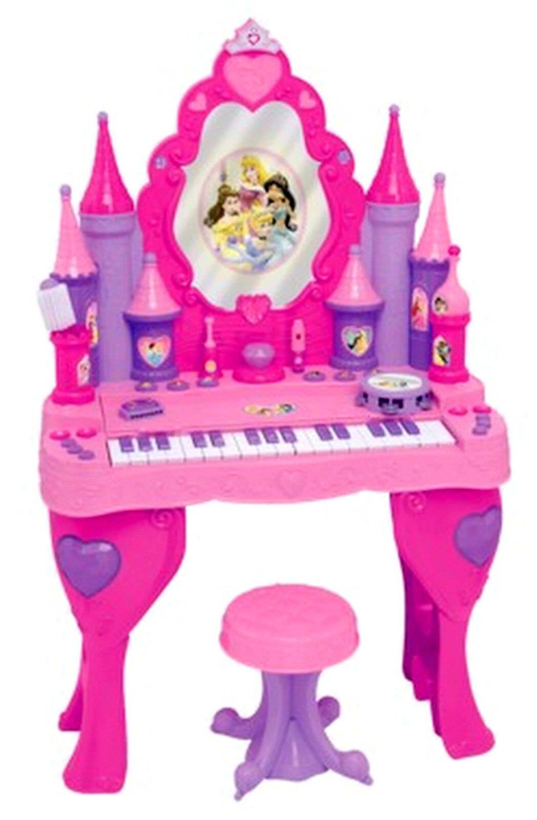 Disney Princess Piano Keyboard Vanity Salon Interactive