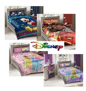 disney princess tinkerbell cars mickey kids comforter bed set 4pcs