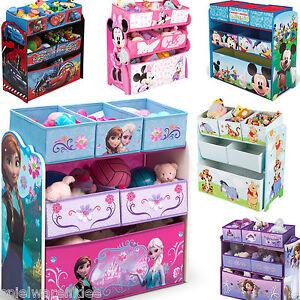 disney spielzeugkiste regal kinderm bel minnie mouse cars winnie pooh princess ebay. Black Bedroom Furniture Sets. Home Design Ideas