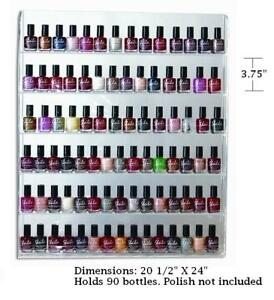 Display 90 NAiL Polish bottles