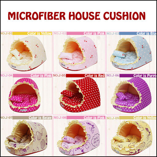 Dog Cat Pet's Warm Soft Pet Bed Microfiber House Cushion 11color Made in Korea