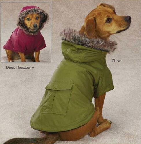 Dog Fur Trimmed Parka Coat Jacket Hood Hooded XXS XS S M L XL S/M Pet in Pet Supplies, Dog Supplies, Apparel   eBay